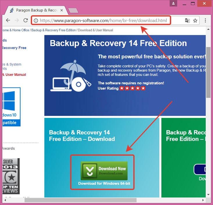 paragon backup recovery free edition